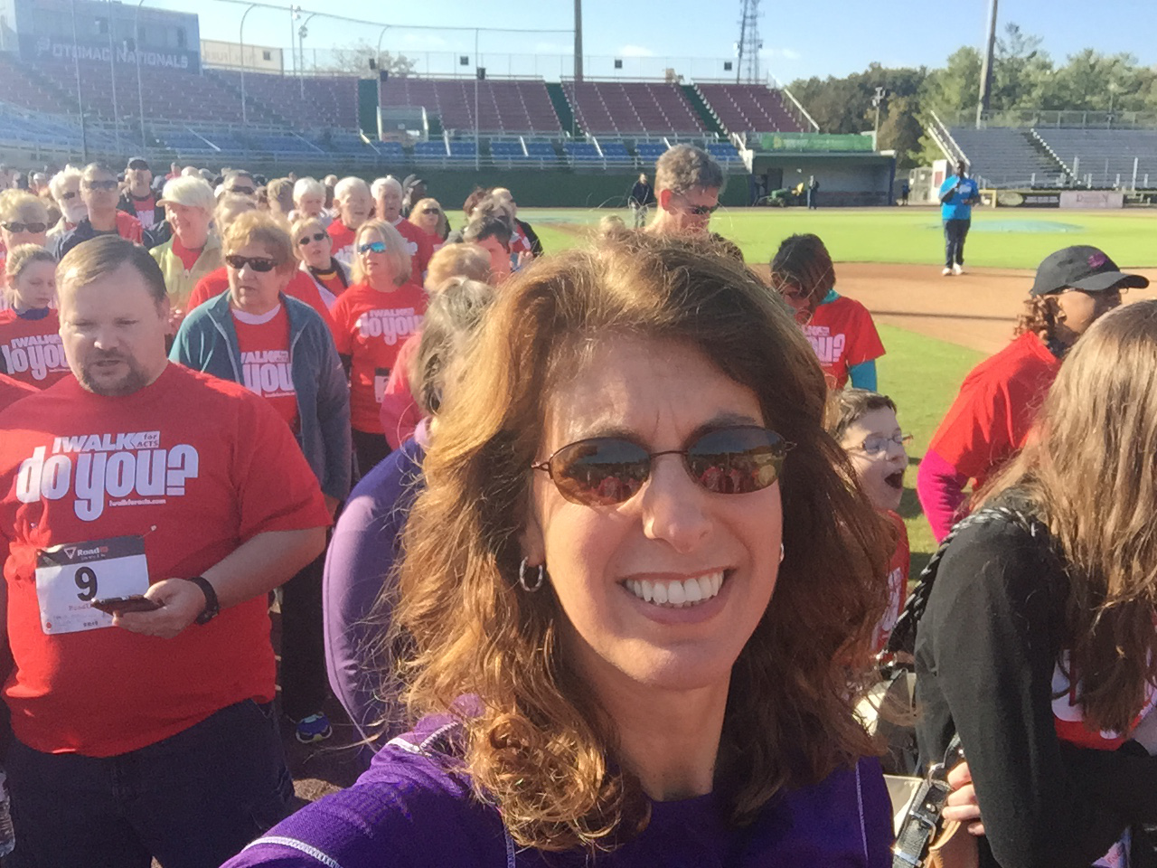 Manassas Allstate Agent, Christine Angles, walking to support ACTS